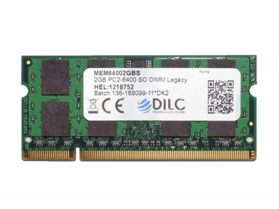 SODIMM DILC RAM DDR2 2GB DDR2 PC2-6400 800MHz 200PIN CL6 DILC64002GBS