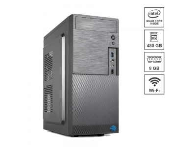 Pc Fisso DILC Airo Intel Quad Core 2.0 ghz Ram DDR4 8 gb Ssd 480 gb WiFi 300 mbps Masterizzatore Licenza Windows 10 PRO