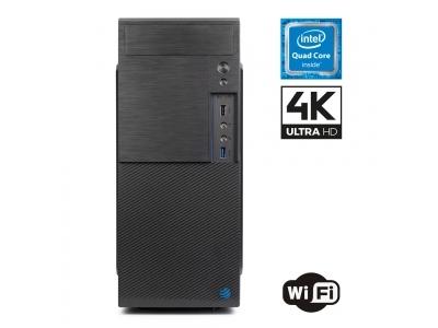 Pc Fisso DILC Airo Intel Quad Core 2.0 ghz Ram DDR4 8 gb Ssd 480 gb Hard Disk 1 tb WiFi 300 mbps Scheda Video integrata Intel UHD 600 con risoluzione massima 4K Licenza Windows 10 PRO