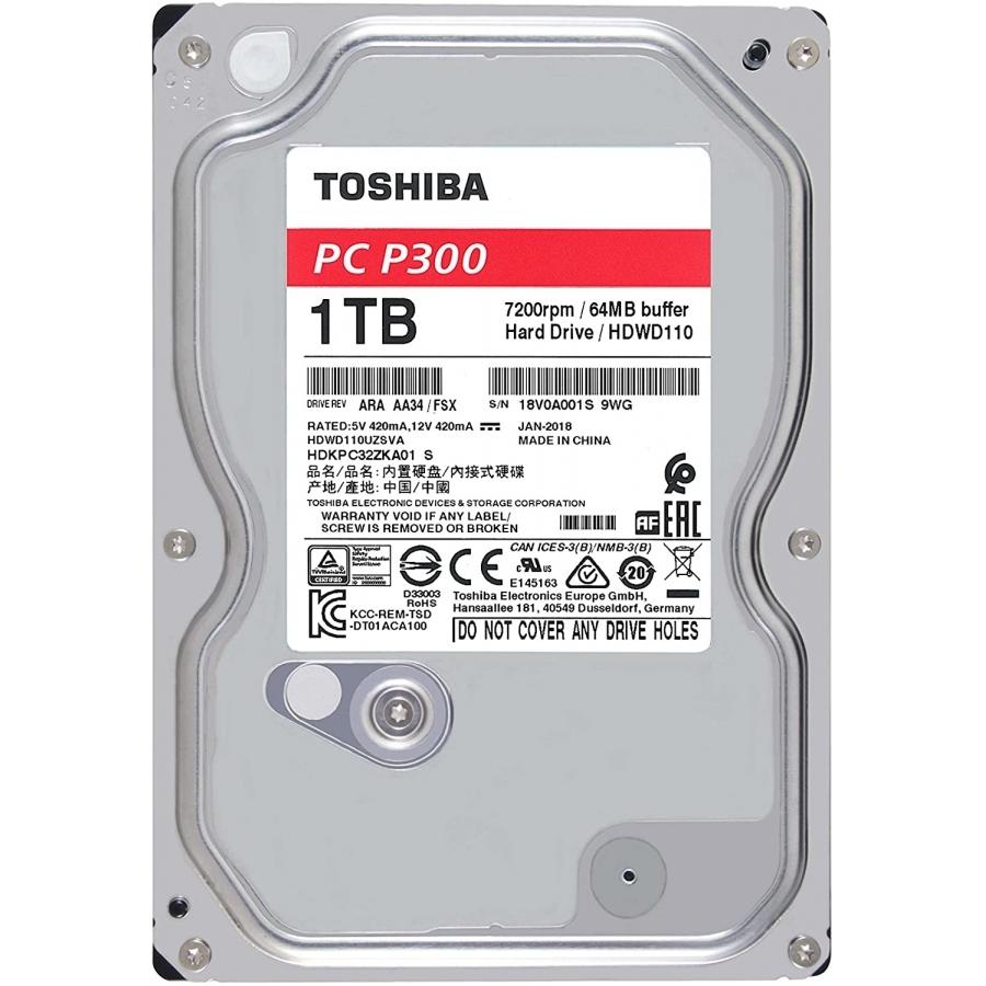 HARD DISK TOSHIBA P300 1TB 7200RPMM 64MB HDWD110UZSVA