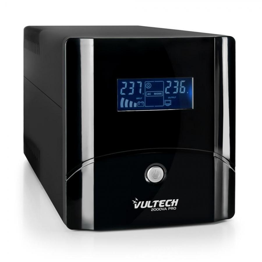 UPS 1050VA Gruppo Di Continuità Vultech UPS1050VA-PRO Line Interactive Con LCD