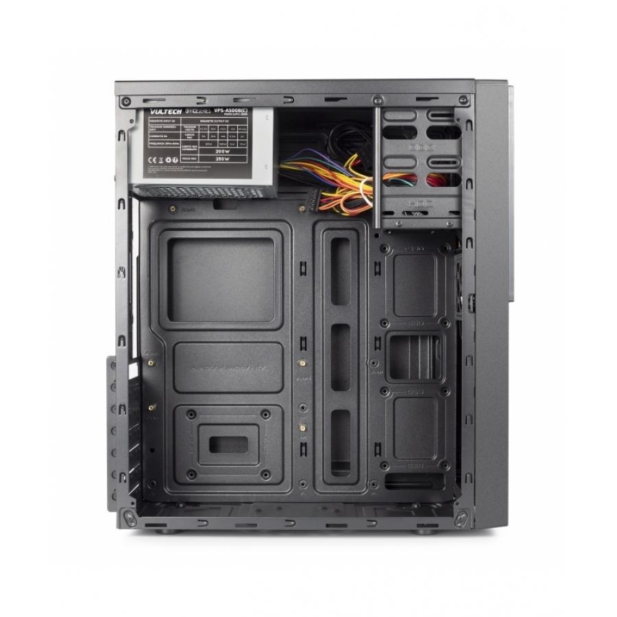 Case Micro Atx Vultech VCO-A1699P Con Alimentatore 250W 1x USB 3.0 + 1x USB 2.0 - 325 x 175 x 405 mm
