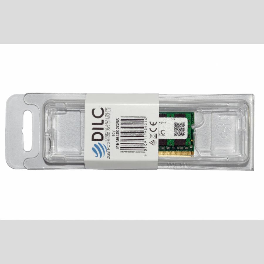 SODIMM DILC RAM DDR2 2GB DDR2 PC2-6400 800MHz 200PIN CL6 DILC64002GBS