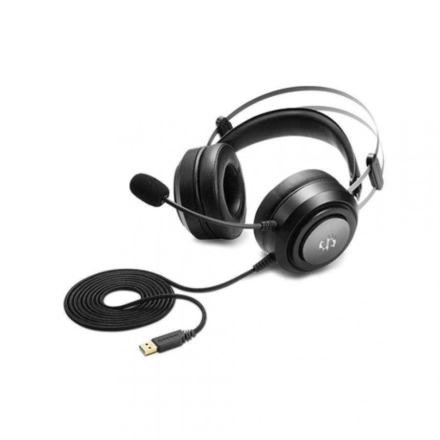 CUFFIE Stereo Gaming USB Sound Card, virtual 7.1 sound, RGB Skiller SGH30