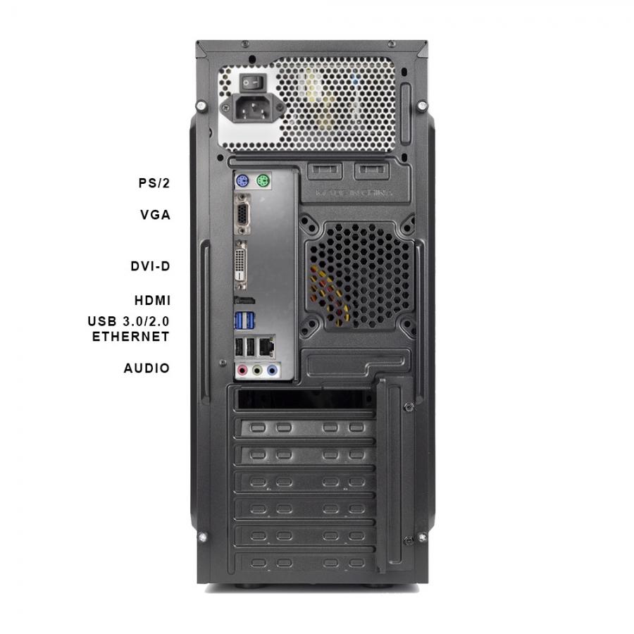 Pc Fisso DILC Airo Intel Quad Core 2.0 ghz Ram DDR4 8 gb Ssd 480 gb WiFi 300 mbps Masterizzatore Licenza Windows 10 PRO