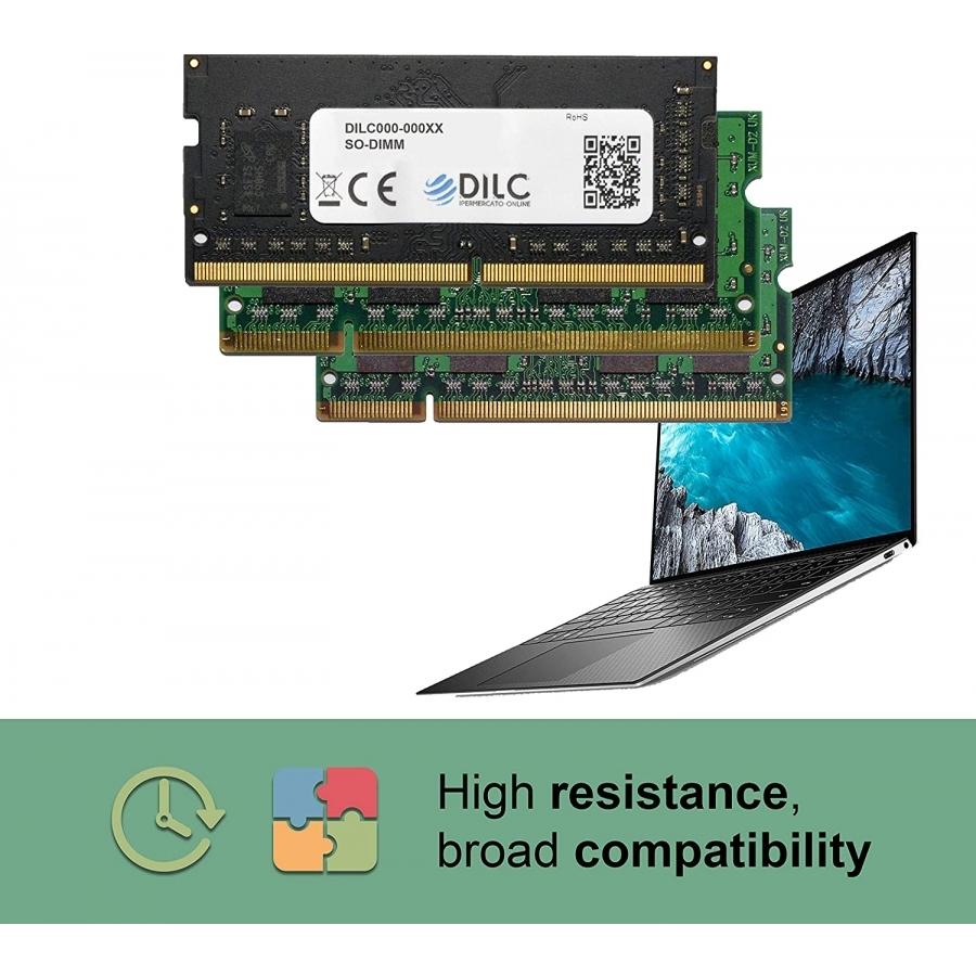 SODIMM DILC RAM DDR4 4GB DDR4 PC4-19200 2400MHz Single Rank 512x8 CL17 DILC192004GBS