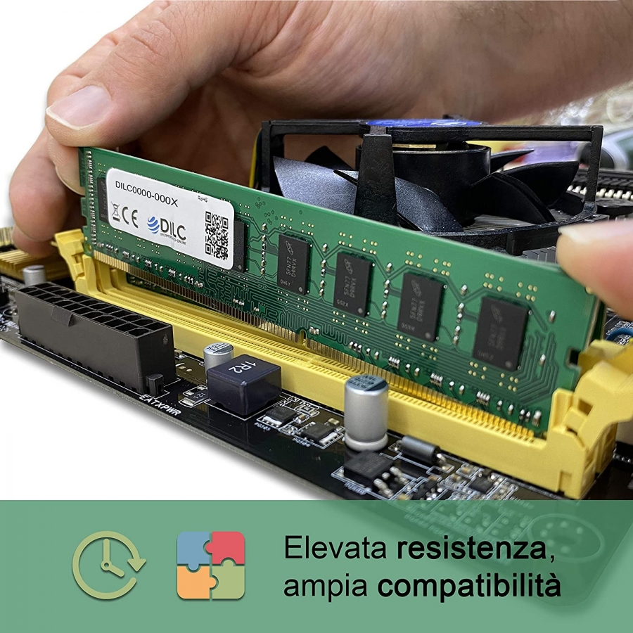 SODIMM DILC RAM DDR4 8GB DDR4 PC4-19200 2400MHz Single Rank 512x8 CL17 DILC192008GBS-SR