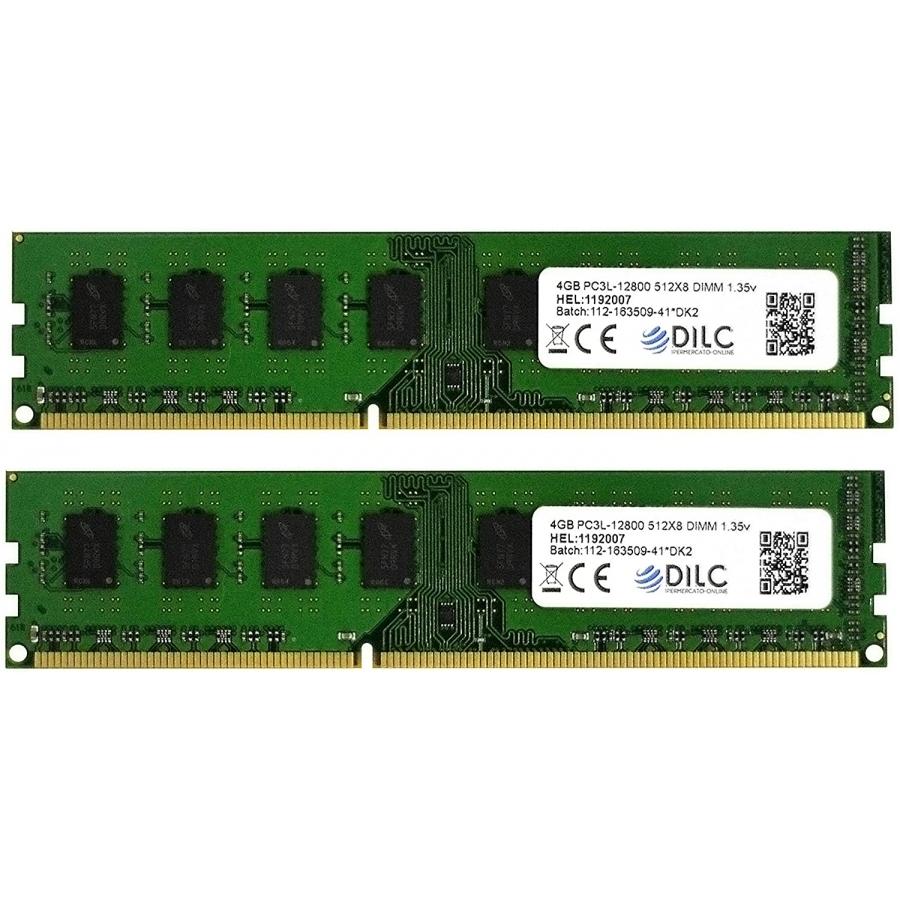 DILC Ram Dimm DDR3 8GB (2x4GB) 1600Mhz PC3-12800 (240 Pin) 1.35v (Low Voltage) DILC128002X4GBD-LV