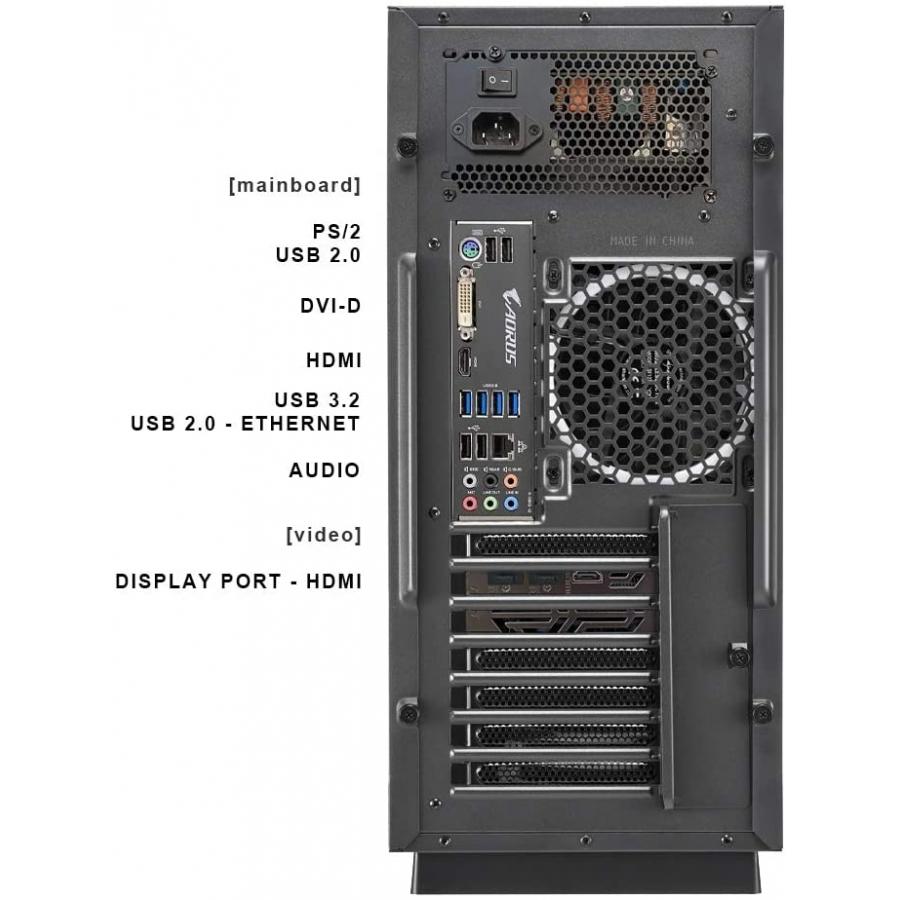 Pc Gaming DILC Zen Advanced Ryzen 5 3600 6 Core 3.60 ghz Ram 16 gb Ssd 1 tb M.2 Nvme Scheda Video GTX 1650 Gaming X 4 gb Case Sharkoon Pure Steel Nero RGB 600W 80+ Licenza Windows 10 PRO
