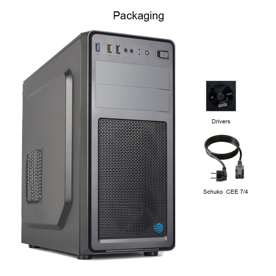 Pc Fisso DILC Business 5 Intel i5-10500 6 Core 3.10 ghz Ram 16 gb Ssd 480 gb Hard Disk 1 tb WiFi 300 mbps Masterizzatore Alimentatore 80+ Licenza Windows 10 PRO
