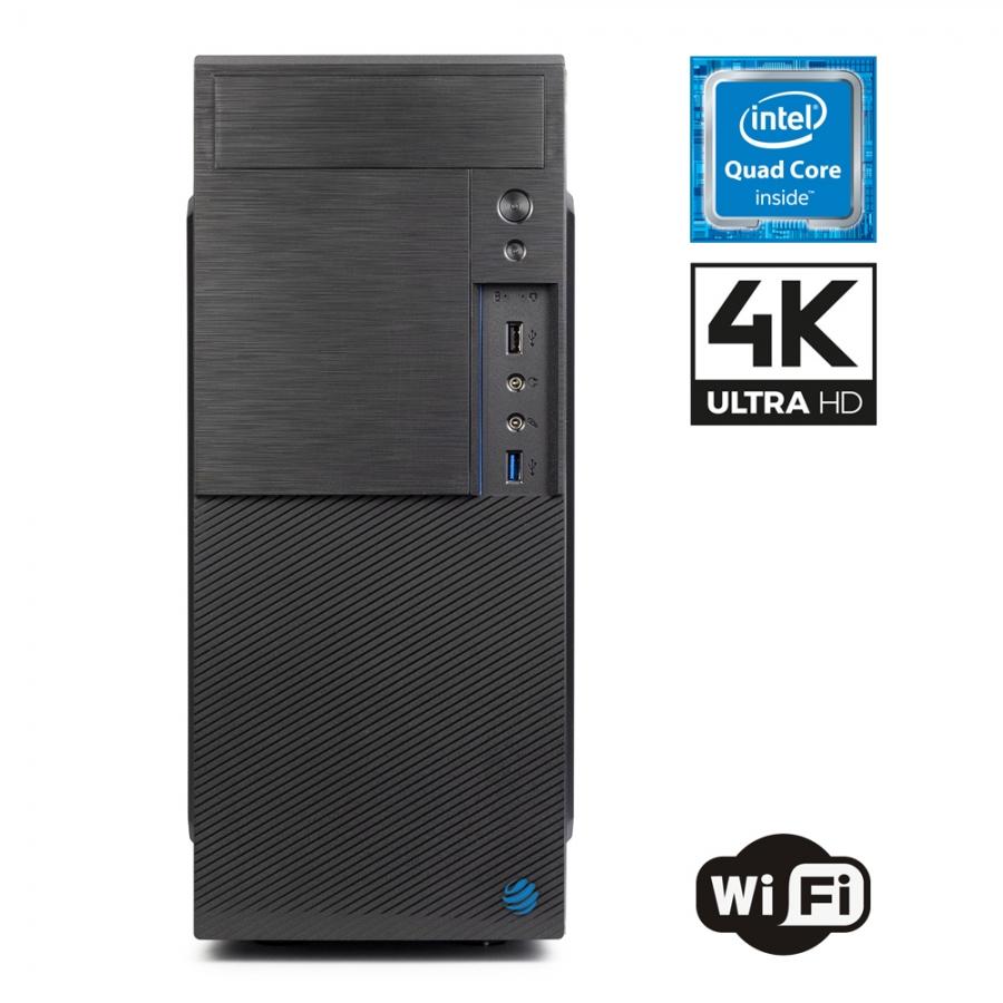 Pc Fisso DILC Airo Plus Intel Quad Core 2.0 ghz Ram DDR4 16 gb Ssd 480 gb WiFi 300 mbps Masterizzatore Licenza Windows 10 PRO