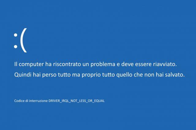 Schermo blu Windows: cosa è il temibile BSOD?